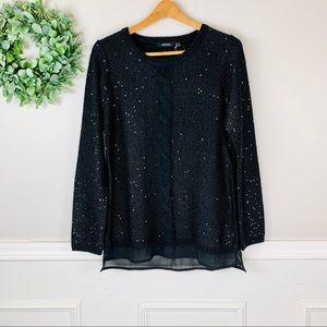 Esmara Black Sequin Pullover Sweater